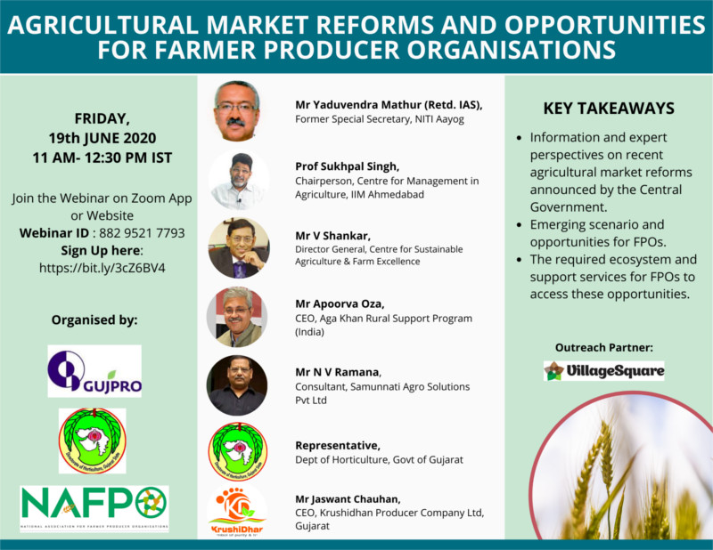 Agricultural Market Reforms and Opportunities for Farmer Producer Organisations